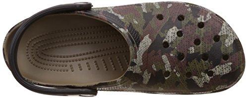 crocs Unisex-Erwachsene Classiccamoclg Clogs Braun (Khaki)