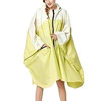 WOZOW Ladies Outdoor Lightweight Hooded Waterproof Rain Jacket Long Style Rainwear Rain Poncho for Women