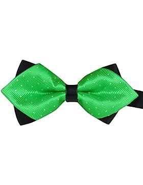 Cdet Pajaritas arco de mariposa rayado - con doble capa - Corbata 6 * 12cm del traje del partido de la decoración...