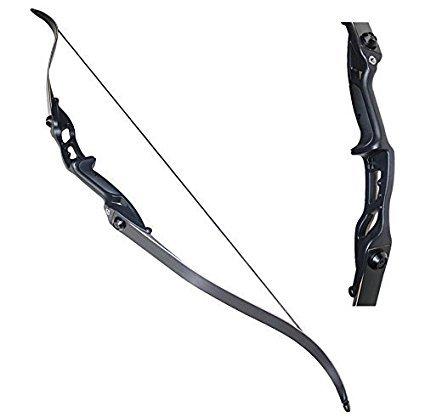 Recurve Bogen Set Hellbow 30 lbs und 50 lbs Bogenschießen Recurve Bogen amerikanischen Jagd Bögen für Pfeile Sportbildung (schwarz, 50 LBS)