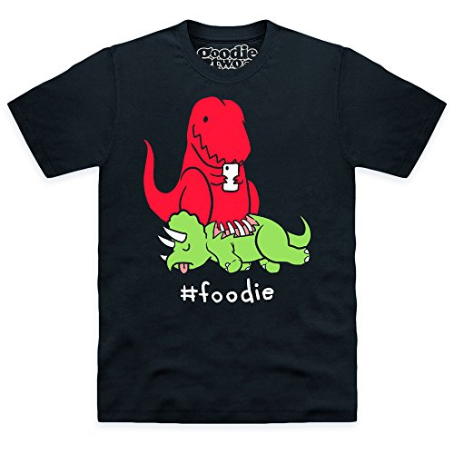 Goodie Two Sleeves Foodie T-shirt, Uomo, Nero, 5XL