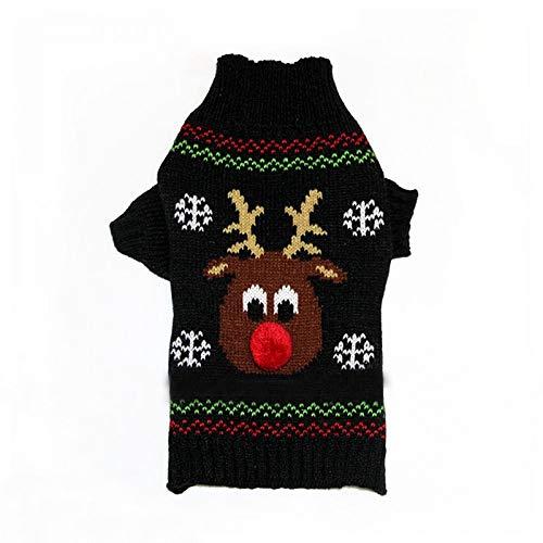 BAONUAN Haustier Kleidung Haustier Hund Stricken Pullover Kleidung Kleiner Hund Mantel Jacke Dackel Chihuahua WeihnachtenKostüm Hund Kleidung Pet Supplies, XXL (Dackel Weihnachten Kostüm)