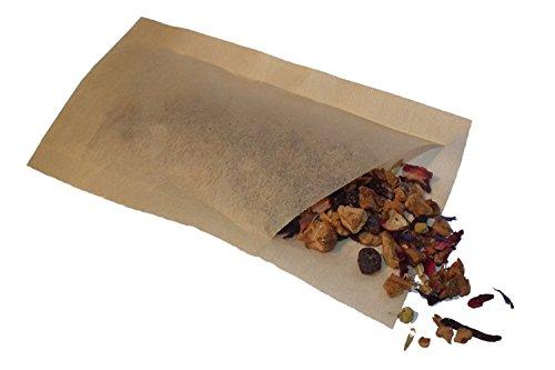 100 X (4–8 Tasses) Grand thé café sac pochette sacs vide herbes feuilles de thé Filtres rapide et hermétique sans Post Gâteaux du Royaume-Uni Yorkshire