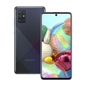 Samsung Galaxy A71 Mobile Phone; Sim Free Smartphone - Prism Crush Black (UK version)