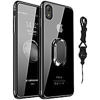 ec9b6d3501d Funda iPhone Xr, Estuche cubierta TPU suave, ultra delgado claro marco  galvanizado Agarre los