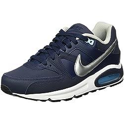 Nike Air Max Command Leather, Zapatillas De Running para Hombre, Negro (Negro (Obsidian/Metallic Silver-Bluecap-White)), 42 1/2 EU
