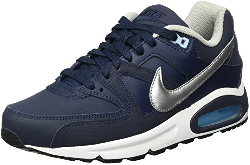 Nike Air Max Command Leather, Baskets Homme, Bleu (Obsidian/Metallic Silver-Bluecap-White 401), 42 EU