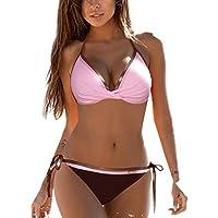 Bikinis Mujer 2019 Brasileños, Zolimx Mujeres Bandeau Vendaje 2Pcs Bikini Conjuntos Push-up Ropa de Playa | Traje de Baño | Negros | Tallas Grandes Cintura Alta | Tamaño: S~XXL