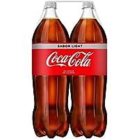 Coca-Cola - Light, Refresco con gas de cola, 2 l (Pack de 2), Botella de plástico