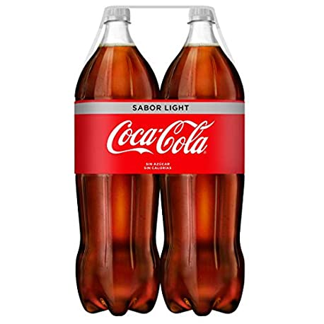 Coca Cola Light Refresco con gas de cola 2 l Pack de 2 Botella de pl stico