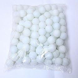 Coface 150Pcs Scrub Mesa de ping pong pelota de ping pong blancas Bolas de la lotería