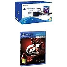 Sony - PlayStation VR + VR Worlds + Cámara (PS4) + Gran Turismo Sport - Edición Estándar