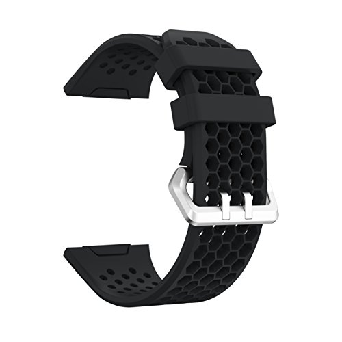 YuStar Watchband, New Replacment Hole Design Silicone Breathable Smart Watch Band Strap Bracelet For Fitbit Ionic Heart Rate Tracker