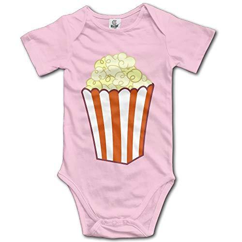 Kleidung des Unisexbabys stellte Popcorn-Kunst-Bodysuit-Spielanzug-kurzärmlige helle Onesies für 0-24 Monate EIN ()