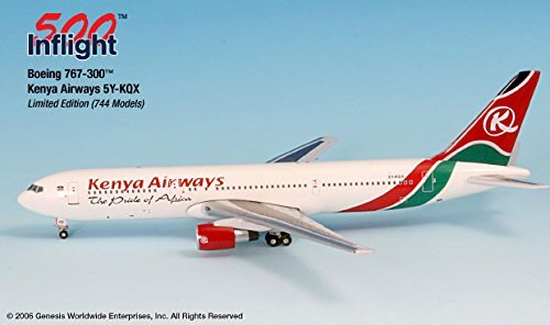 kenya-airways-5y-kqx-767-300-airplane-miniature-model-metal-die-cast-1500-part-a015-if5763001