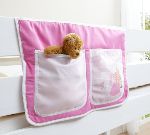 Hängetasche für Kinderbetten mit Farbauswahl, Vorhangstoff:Horse Pink