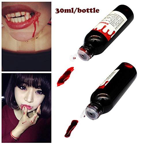 strety 30 ML5 Künstliches Plasma Halloween Grusel Requisiten Eine Flasche Kunstblut Mörder Vampir Leiche Cosplay Zubehörteil Party Liefert Dekoration -
