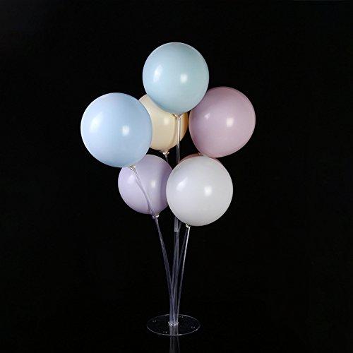 Ballon-Halter, 7 in 1 Kunststoff-Luftballons Display Ständer Set Basis Tisch Schreibtisch schwimmend Unterstützung Rack für Geburtstag Party Hochzeit Dekoration Free Size weiß