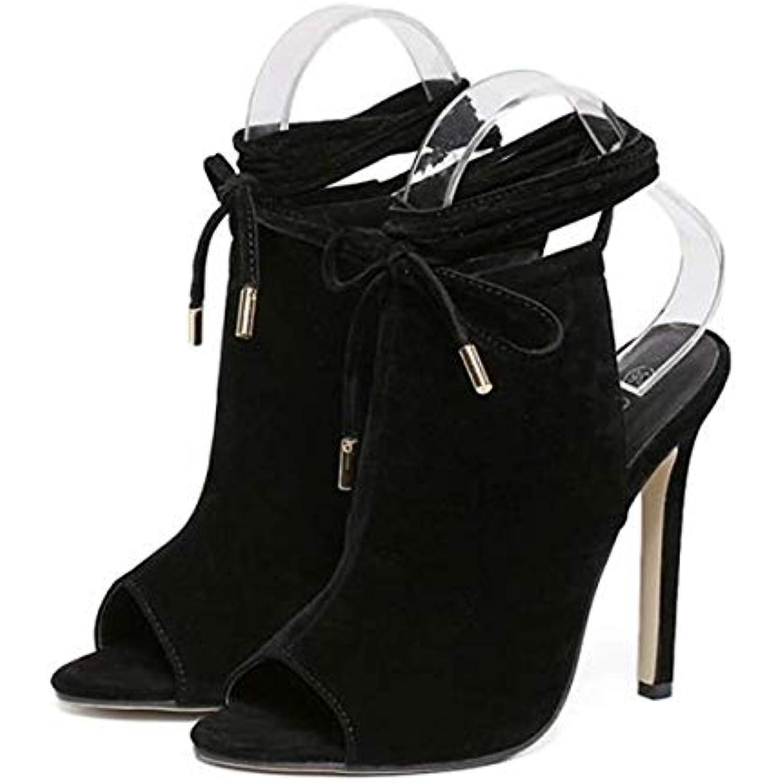 SFSYDDY Chaussures Populaires Bouche De Poisson Daim Daim Daim avec des 11Cm Orteils Mince Sexy Arri egrave;re Vide De - B01DPSIV8G - 391bea