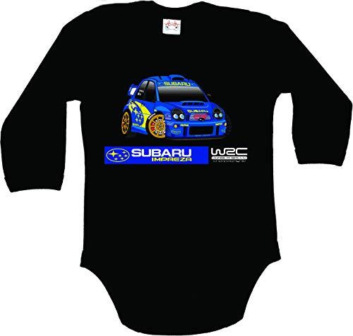 Subaru Impreza WRC World Rally Championship Traje Body Bebe Manga Larg
