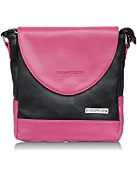 Fantosy Women Black And Pink Souqina Sling Bag (black And Pink) (FNSB-212)
