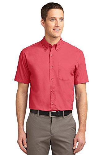 Port Authority Herren Poloshirt Rosa - Hibiscus/Hibiscus