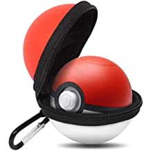 leegoal Tasche für Poke Ball Plus, Portable Case Accessory Bag mit Keychain für Lets Go Eevee Pokeball Plus, Pokemon Lets Go Pikachu Poke Ball Plus