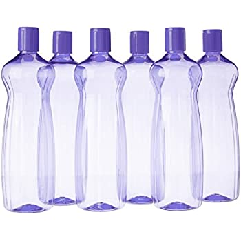 Princeware Aster Pet Fridge Bottle Set, 975ml, Set of 6, Violet