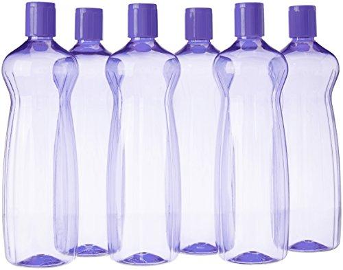 Princeware Aster Pet Fridge Bottle Set, 975ml, Set of 6, Violet