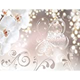 Fototapete Blumen Orchidee Weiß Vlies Wand Tapete Wohnzimmer Schlafzimmer Büro Flur Dekoration Wandbilder XXL Moderne Wanddeko Flower 100% MADE IN GERMANY - Runa Tapeten 9076010a