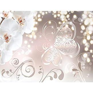 Papel Pintado Fotográfico Orquídea de flores 308 x 220 cm Tipo Fleece no-trenzado Salón Dormitorio Despacho Pasillo Decoración murales decoración de paredes moderna – 100% FABRICADO EN ALEMANIA – 9076010a