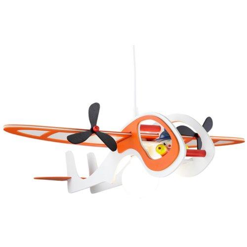 Elobra Pendelleuchte Flugzeug mit \'Joe\', weiß/orange 125557