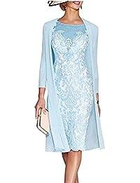 Snow Lotus - Vestido - para mujer Azul azul celeste 34