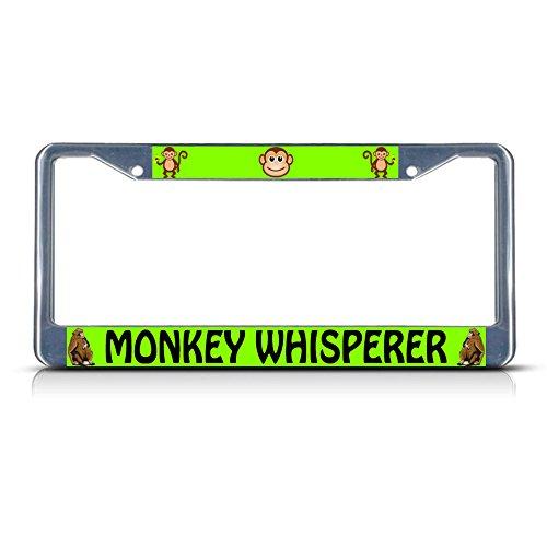 Monkey Whisperer Metall-Kennzeichenrahmen mit Zwei Löchern, perfekt für Männer und Frauen, Auto-Garadge Dekor