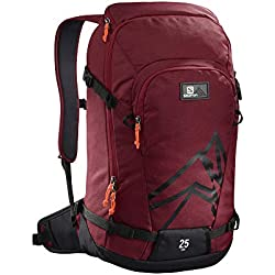 Salomon, Sac à Dos Léger de Ski 25L, SIDE 25, Rouge/ noir (Biking Red/Noir), L40372000