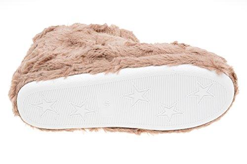 Pantofole Da Donna Di Gibra, Foderate, Con Suola Bianca, Marrone, Taglia 36-42 Marrone