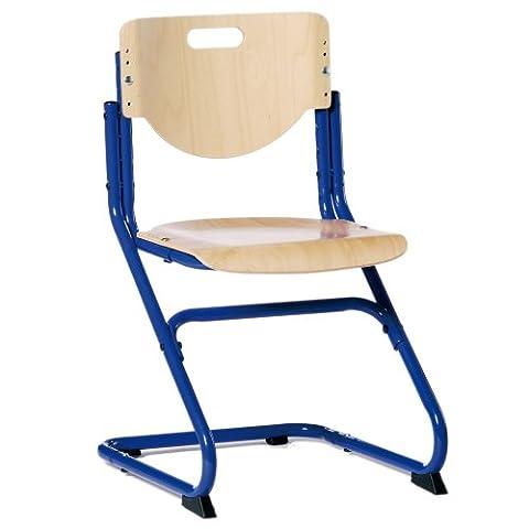 Kettler Schreibtischstuhl Kinder Chair Plus- Farbe: blau und holzfarben (Buche) – hochwertiger Kinderschreibtischstuhl MADE IN GERMANY – Schreibtischstuhl ergonomisch & höhenverstellbar - Artikelnummer: