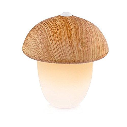 Lámpara-Despertador Sensor Táctil Lámpara de Noche Luz Suave Nocturna Despierta VADIV con 5 Sonidos de Naturaleza Simulación del Amanecer Varias Tonalidades de Luz y 3 brillos USB recargable