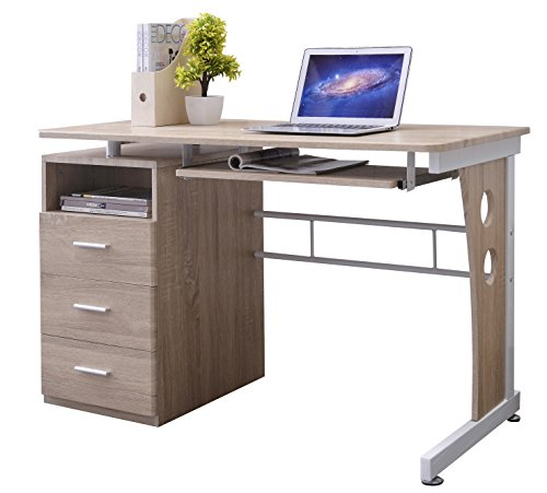 SixBros. Office - Scrivania Porta pc Tavolo Ufficio Colore Rovere - S-352/2074
