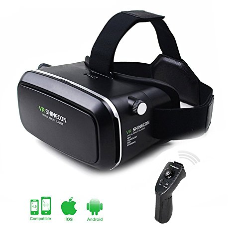 ULTRICS VR Headset, 3D Virtual Reality Brille 360° Headmount Pappbrillen Für Filme Spiele 100%...
