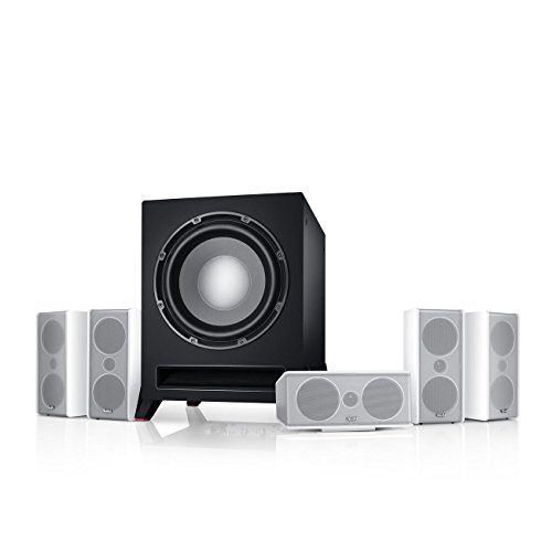Teufel Consono 35 Mk3 Power Edition 5.1-Set Weiß Heimkino Lautsprecher 5.1 Soundanlage Kino Raumklang Surround Subwoofer Movie High-End HiFi