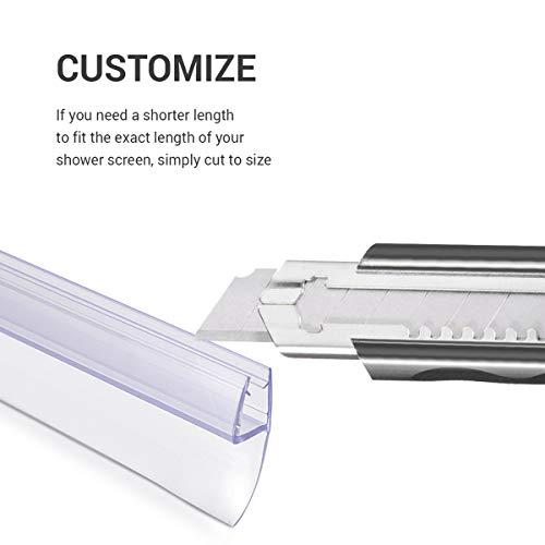 41vnGs0OKxL - Navaris junta de recambio para ducha - Repuesto para puerta de vidrio con grosor de 6MM - Sello protector contra salpicaduras 180° de 80CM de largo