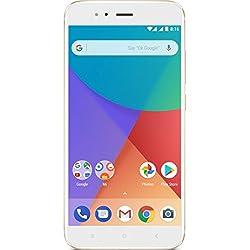 "Xiaomi Mi A1 - Smartphone libre de 5.5"" (4G, WiFi, Bluetooth, Snapdragon 625 2.0 GHz, 64 GB, 4 GB de RAM, Android One), Oro"
