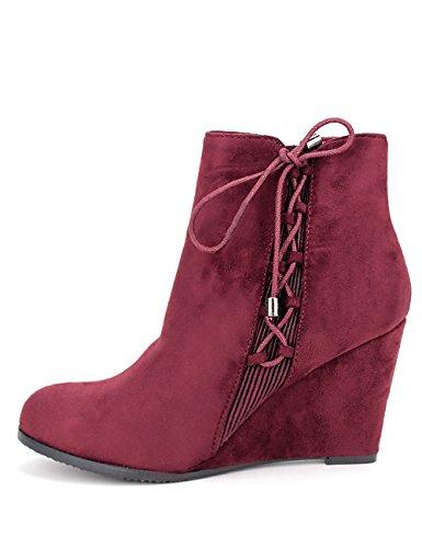 Cendriyon Bottine Compensée Bordeaux MIELINA Chaussures Femme