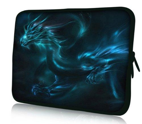 Luxburg® Design Laptoptasche Notebooktasche Sleeve für 17,3 Zoll, Motiv: Fantasy Drache