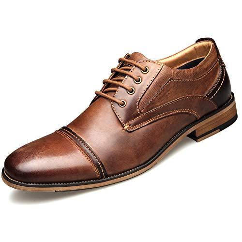 Shoe house Men es Lace Up Oxfords Classic Modern Round Cap Toe Formal Leder Schuhe Men,US9=EU42 Cap Toe Oxford Cap
