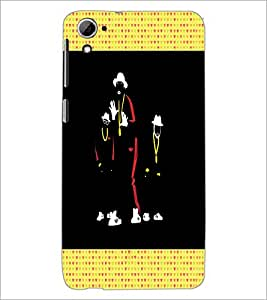 PrintDhaba Dancers D-2668 Back Case Cover for HTC DESIRE 826 (Multi-Coloured)