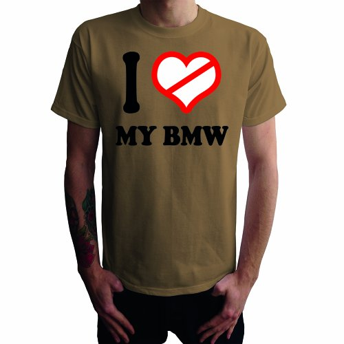 I don't love my BMW Herren T-Shirt Khaki