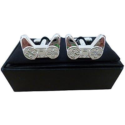 Controles gemelos de PlayStation Harvey Makin en una caja de regalo personalizada
