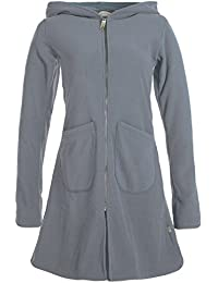 Vishes - Alternative Bekleidung - Einfarbiger Eco Fleecemantel mit Kapuze d808b94bae